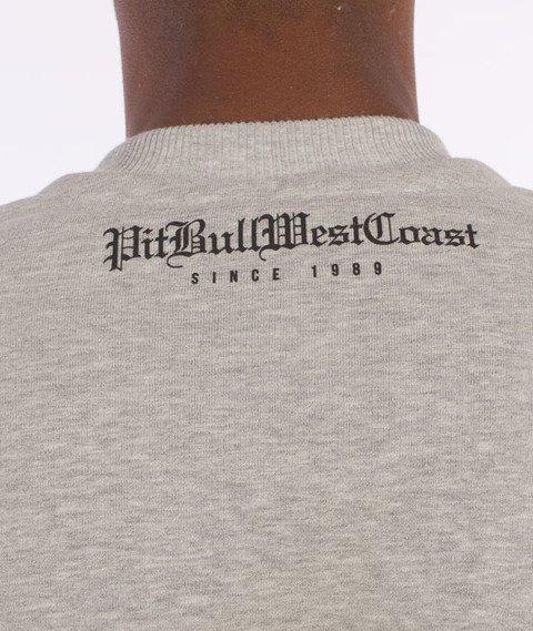 Pit Bull West Coast-Skull Logo Sweatshirt Crewneck Grey Melange