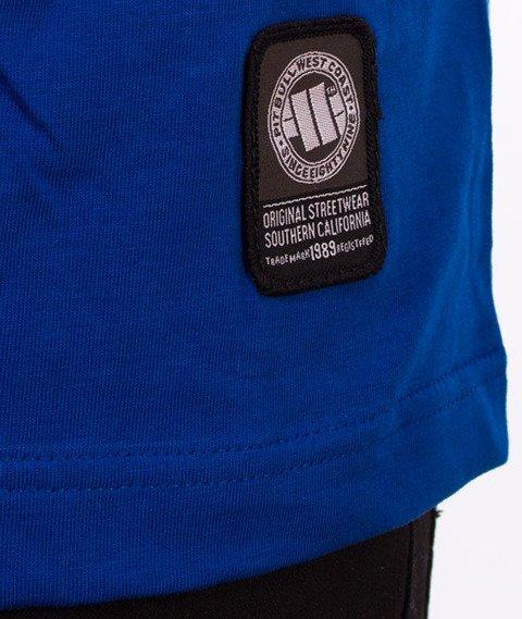 Pit Bull West Coast-Small Logo T-Shirt Niebieski