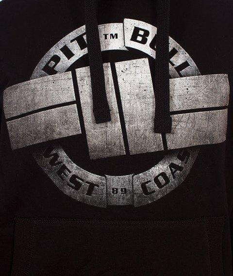 Pit Bull West Coast-Steel Logo Hoodie Bluza Kaptur Czarna