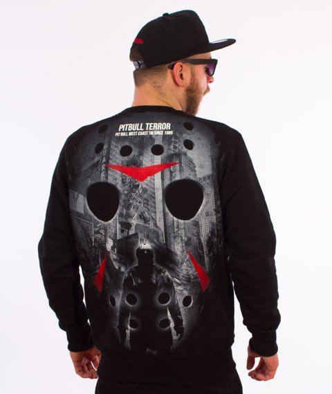 Pit Bull West Coast-Terror Mask Crewneck Bluza Czarna