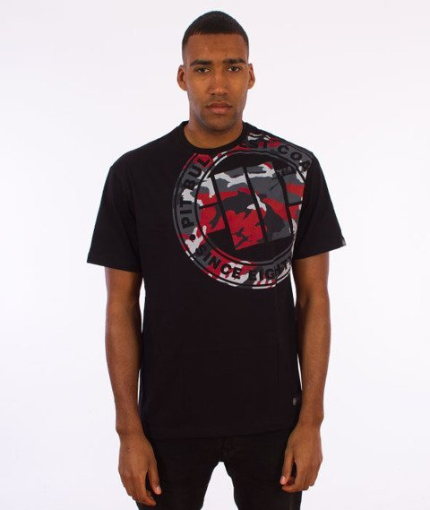 Pit Bull West Coast-Urban Camo T-Shirt Czarny