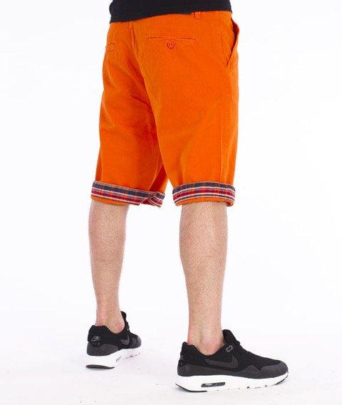 Pit Bull West Coast-Vintage Spodnie Krótkie Chino Pomarańczowe