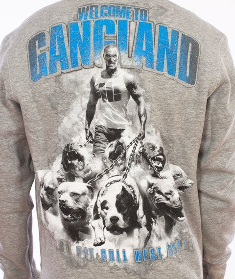 Pit Bull West Coast-Welcome To Gangland Crewneck Grey Melange