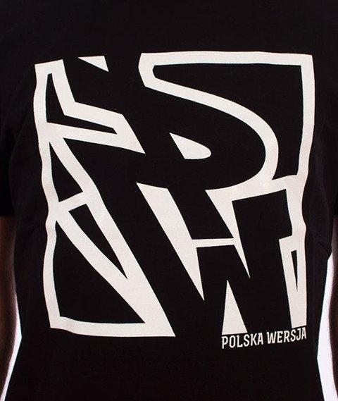 Polska Wersja-PW Do Kwadratu T-shirt Czarny