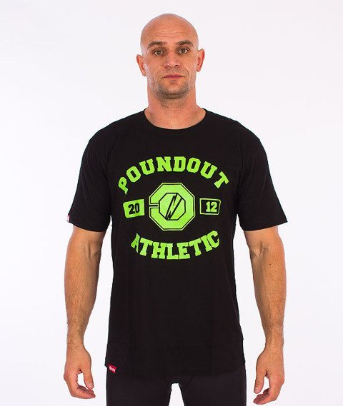Poundout-Athletic T-Shirt Czarny