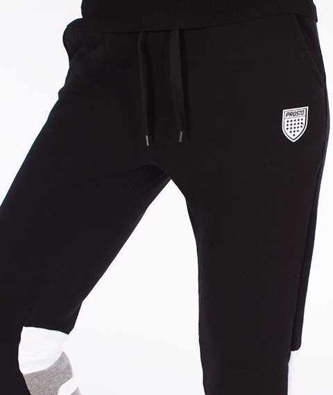 Prosto-Calmice Spodnie Dresowe Damskie Czarne
