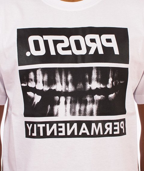 Prosto-Permanently Front T-Shirt Biały