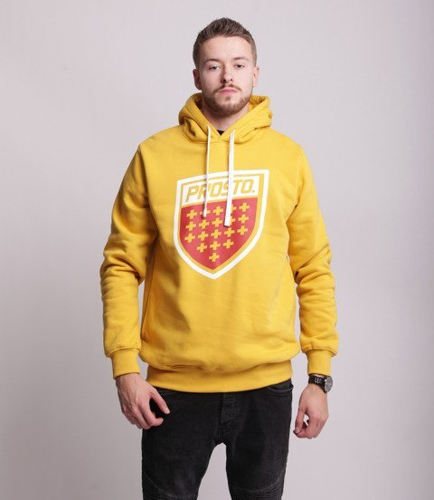 Prosto SHIELD XX Bluza z kapturem Żółty