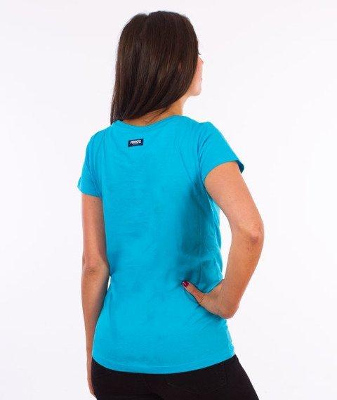 Prosto-Ssicla T-shirt Damski Niebieski