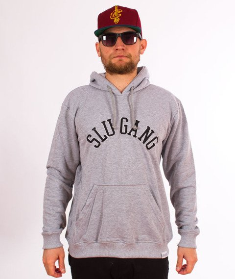 RPS KLASYKA-SLU Gang College Hoodie Bluza Z Kapturem Szara