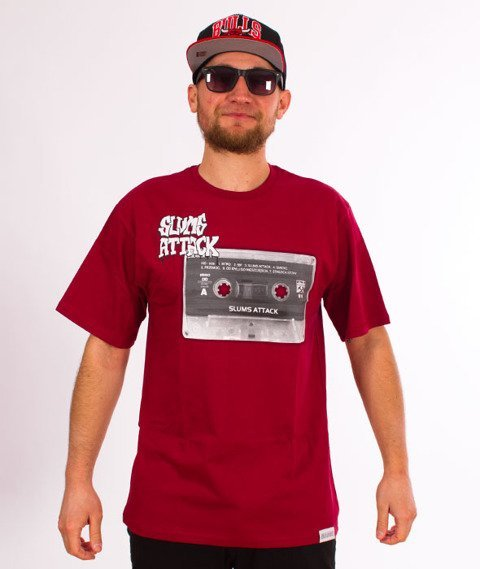 RPS KLASYKA-Tape T-Shirt Bordo