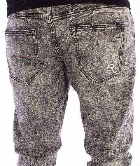 RocaWear-Destroyed Dark Grey Wash Slim Fit Spodnie Jeans R1608J400 887