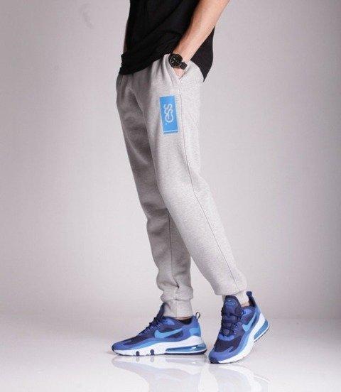 Smoke Story FOIL 3D Spodnie Dresowe Slim Jasny Szary