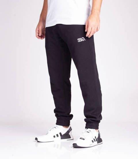 Smoke Story SSG 3D EFFECT Spodnie Dresowe Slim Czarny