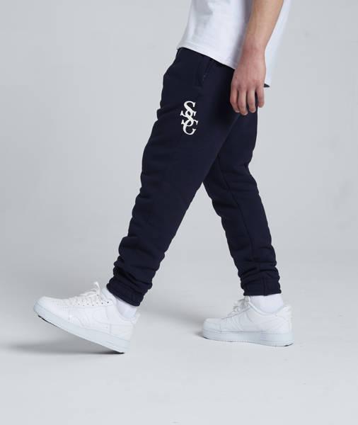 Smoke Story SSG SLANT Spodnie Dresowe Slim Granatowy