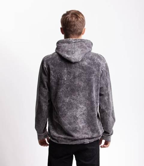 Smoke Story TIEDYE BASIC Bluza z Kapturem Czarny jeans sprany