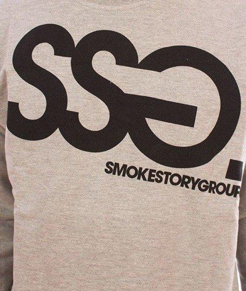 SmokeStory-Big Bluza Jasny Szary