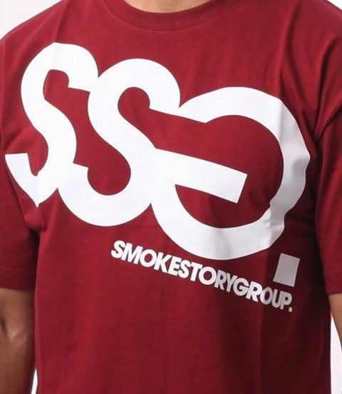 SmokeStory-Big T-Shirt Bordowy