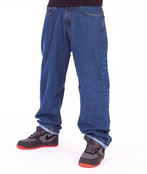 SmokeStory-City Baggy Jeans Medium Blue