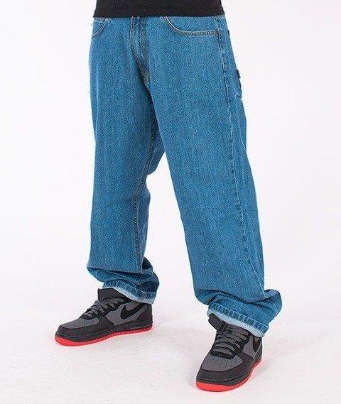 SmokeStory-Classic Baggy Jeans Light Blue
