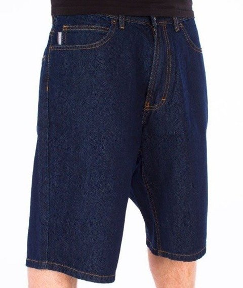 SmokeStory-Classic Jeans Spodnie Krótkie Dark Blue