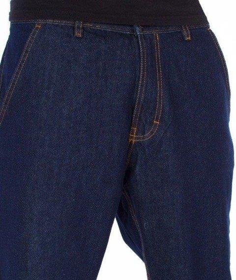 SmokeStory-Classic Jogger Jeans Regular Spodnie Dark Blue