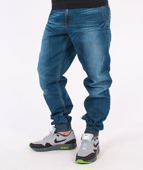 SmokeStory-Classic Jogger Jeans Wycierane