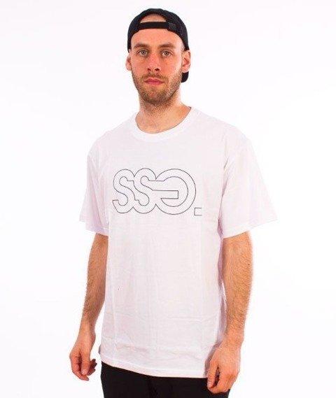 SmokeStory-Classic Outline T-Shirt Biały