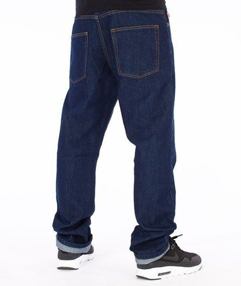 SmokeStory-Classic Slim Jeans Dark Blue