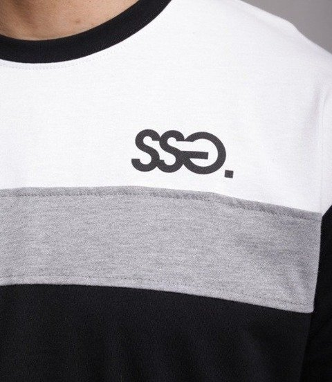 SmokeStory-Double Half T-Shirt Czarny