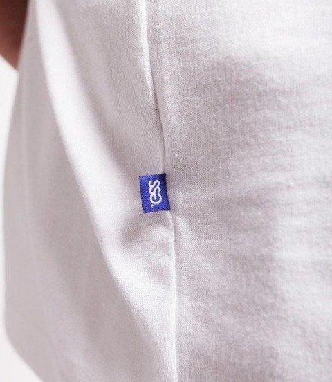 SmokeStory-Double Lines T-Shirt Biały