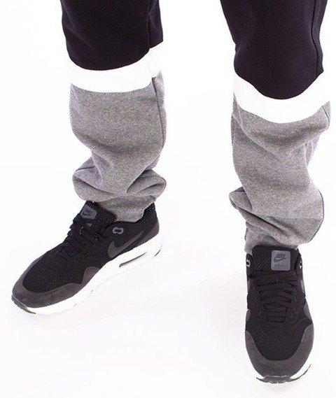SmokeStory-Double Side Spodnie Dresowe Slim Czarny/Ciemny Melanż