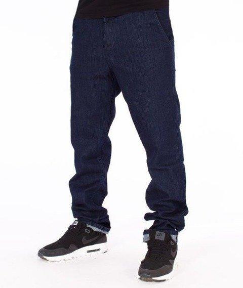 SmokeStory-Jeans Stretch Skinny Guzik Spodnie Dark