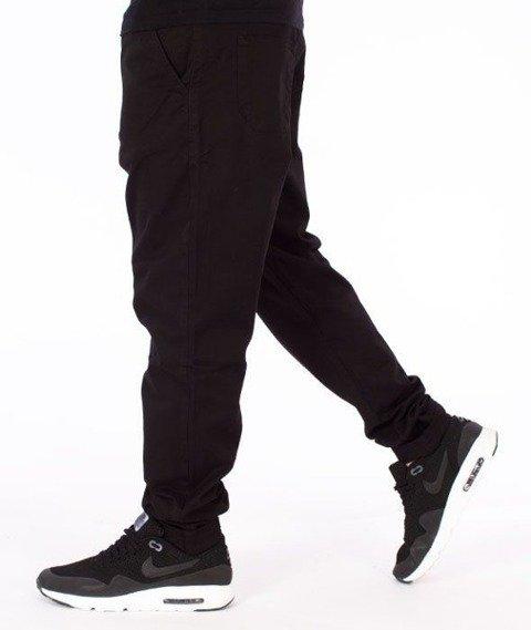 SmokeStory-Jeans Stretch Straight Fit Guzik Spodnie Czarne