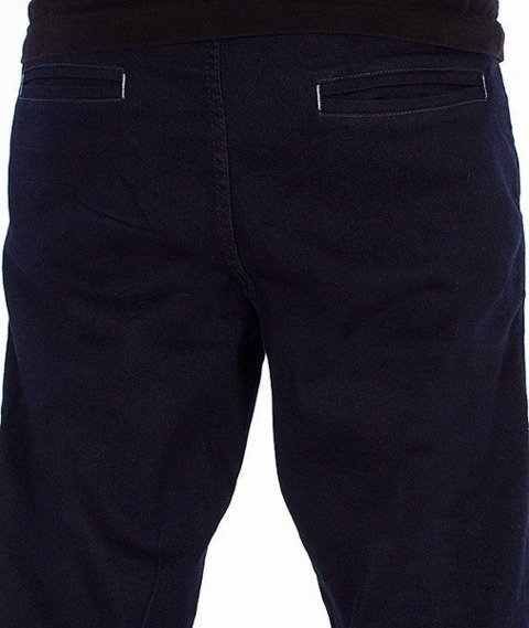 SmokeStory-Jogger Jeans Regular Gumka Dark Blue