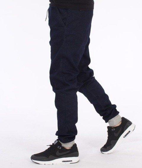 SmokeStory-Jogger Slim Cotton Spodnie Dark Blue