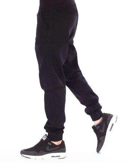 SmokeStory-Jogger Slim Jeans Slim Black Spodnie Czarny