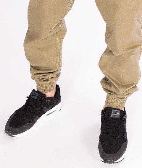 SmokeStory-Klasyk Jogger Slim Z Gumą Spodnie Beżowe