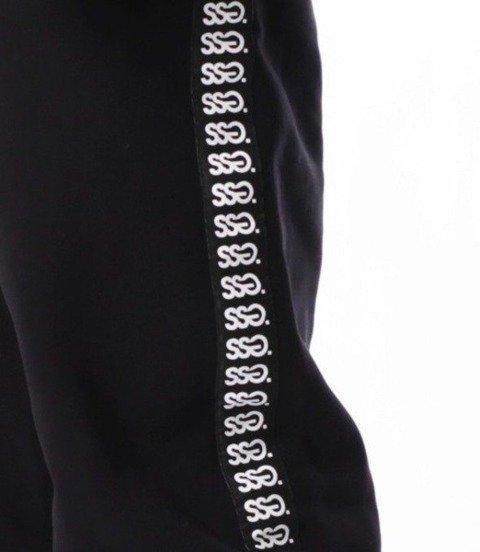 SmokeStory-Lampas Logo Spodnie Jogger Czarne