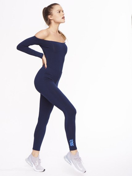SmokeStory-Leggins Basic Colors Granatowe
