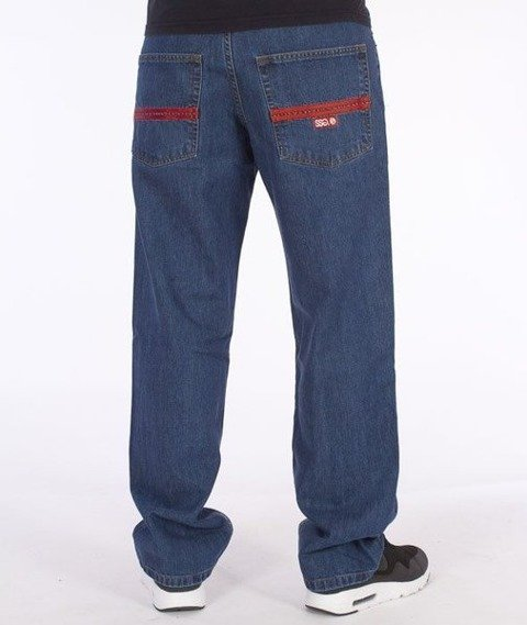SmokeStory-Lines Regular Jeans Medium Blue