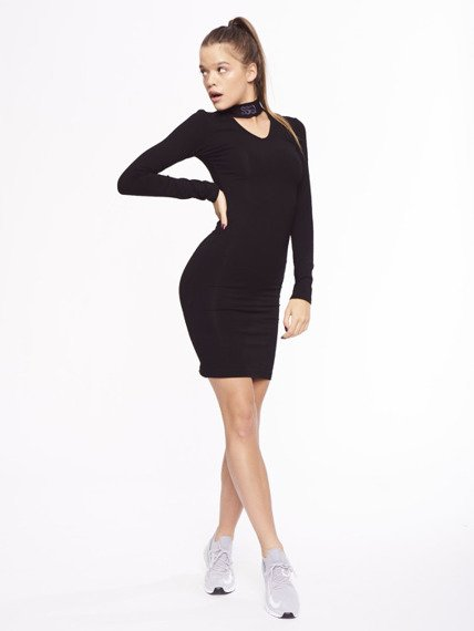 SmokeStory-Logo Bodycon Dress Sukienka Czarna