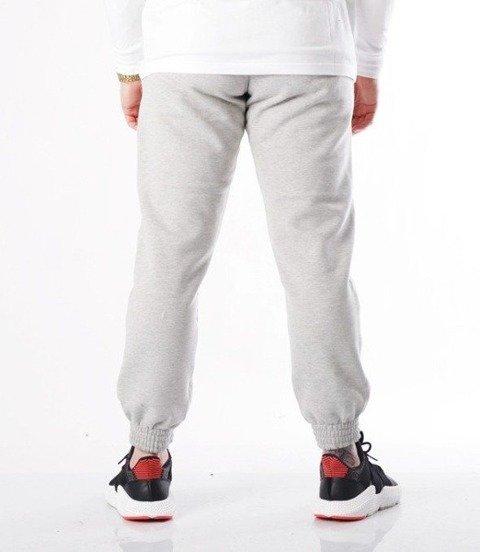 SmokeStory-Moro Cross Line Spodnie Jogger Jasny Szary