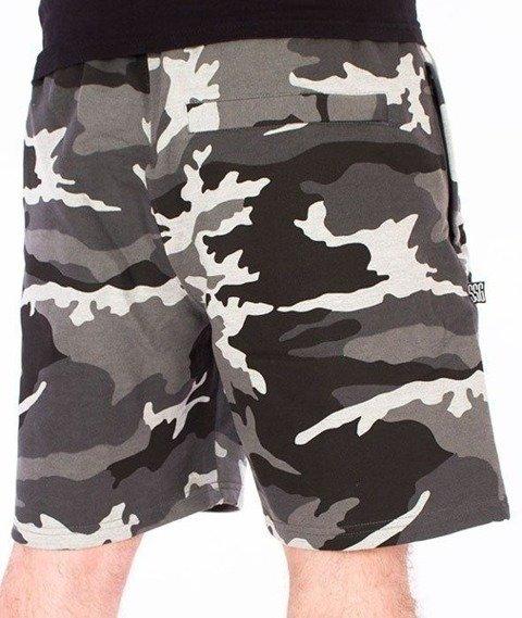 SmokeStory-Moro Flag Premium Krótkie Spodnie Dresowe Czarne Moro
