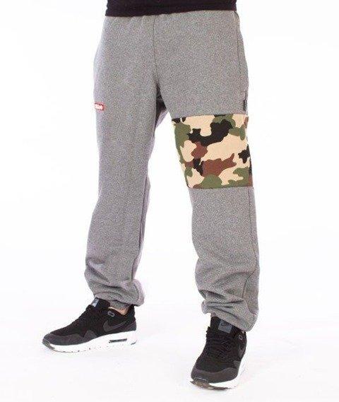 SmokeStory-Moro Part Regular Spodnie Dresowe Szare/Camo