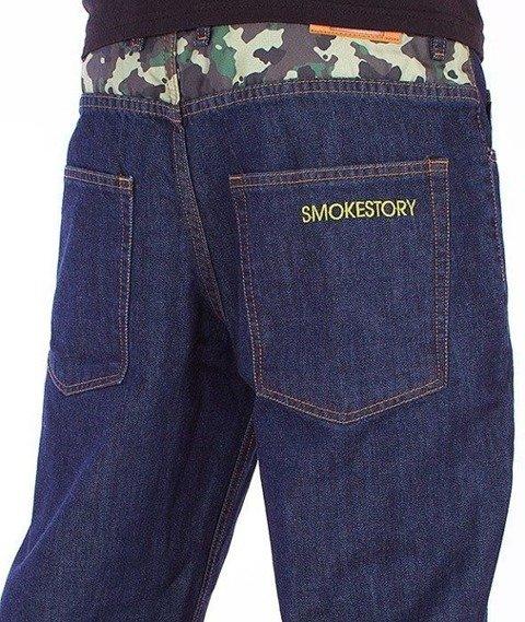 SmokeStory-Moro Wstawka Regular Jeans Dark Blue