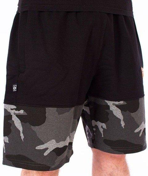 SmokeStory-Moro Wstawki Premium Krótkie Spodnie Dresowe Czarne/Czarne/Camo