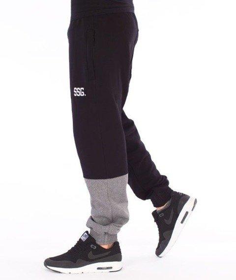 SmokeStory-One Side Jogger Spodnie Dresowe Czarne