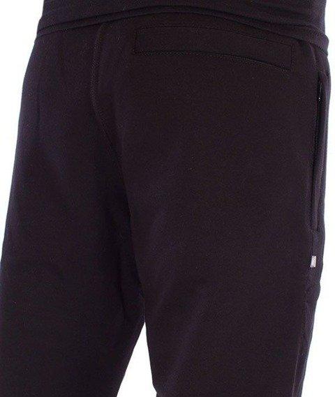 SmokeStory-One Side Small Big Spodnie Dresowe Slim Czarny