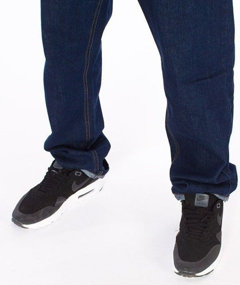 SmokeStory-Outline Slim Jeans Dark Blue